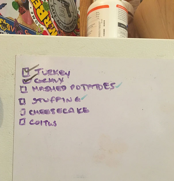 My Husband Added A Task To My Pre-Thanksgiving Checklist