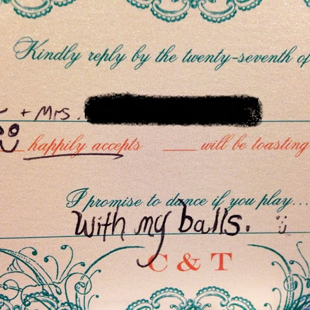 This Is How My Husband Responds To His Cousin's Wedding Invitation