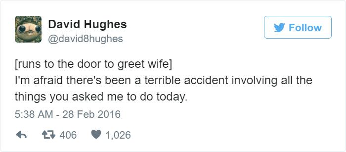 Funny Husband Tweets