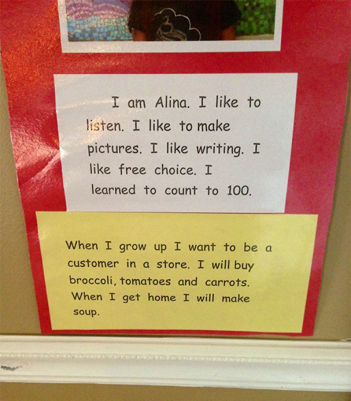 A Kindergardeners Response To What She Wants To Be When She Grows Up