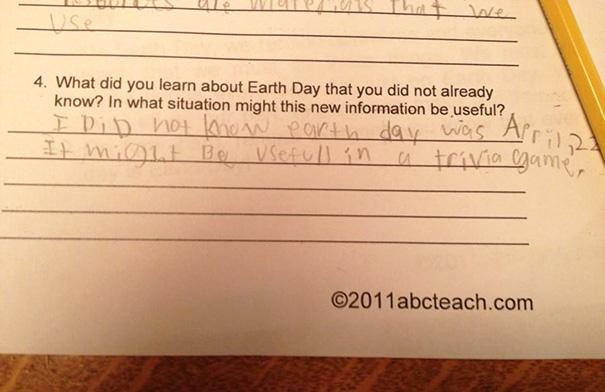 A Third Grader's Honest Response