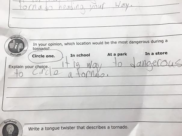 Kid's Take On Tornado Safety