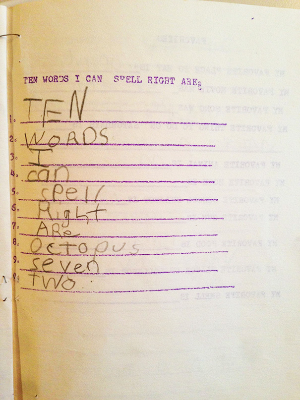Apparently Even 7 Year Old Me Was A Smart Ass