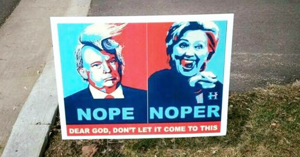 12+ Funny Voting Signs Express What People Really Think About These Elections