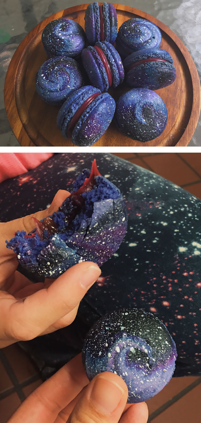Space Jam Galaxy French Macarons