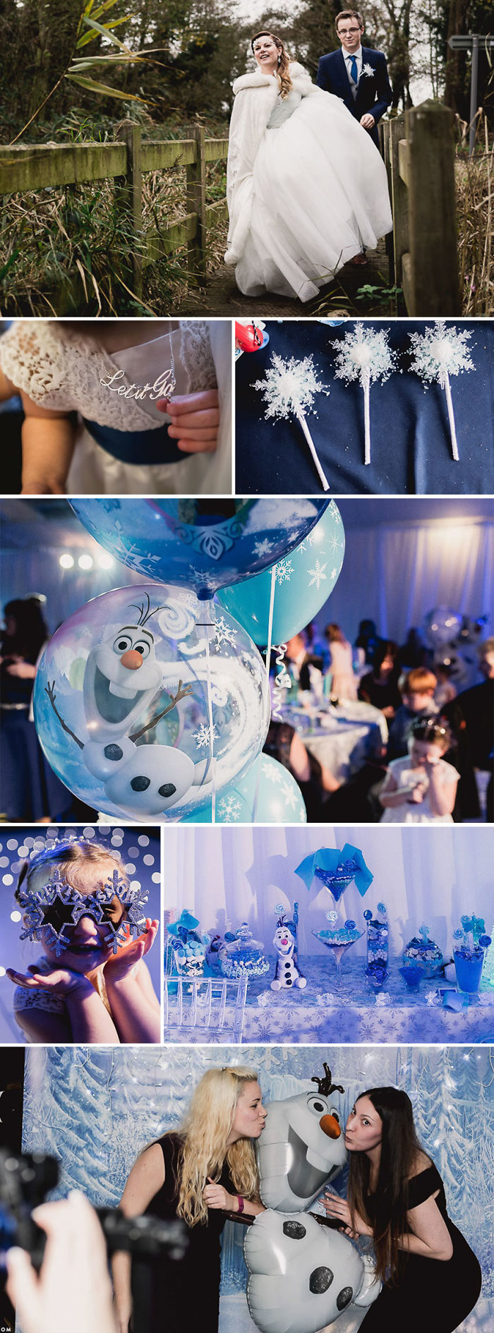 Frozen Themed Wedding