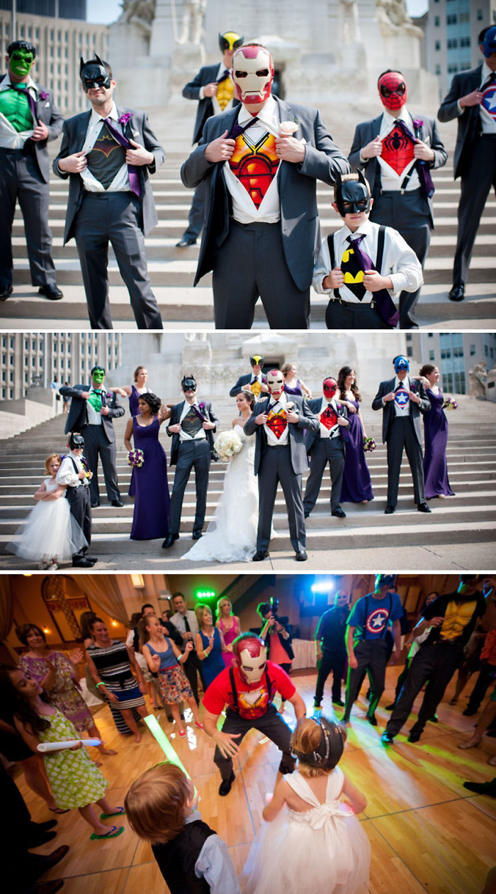 Disguised Superheroes Themed Wedding