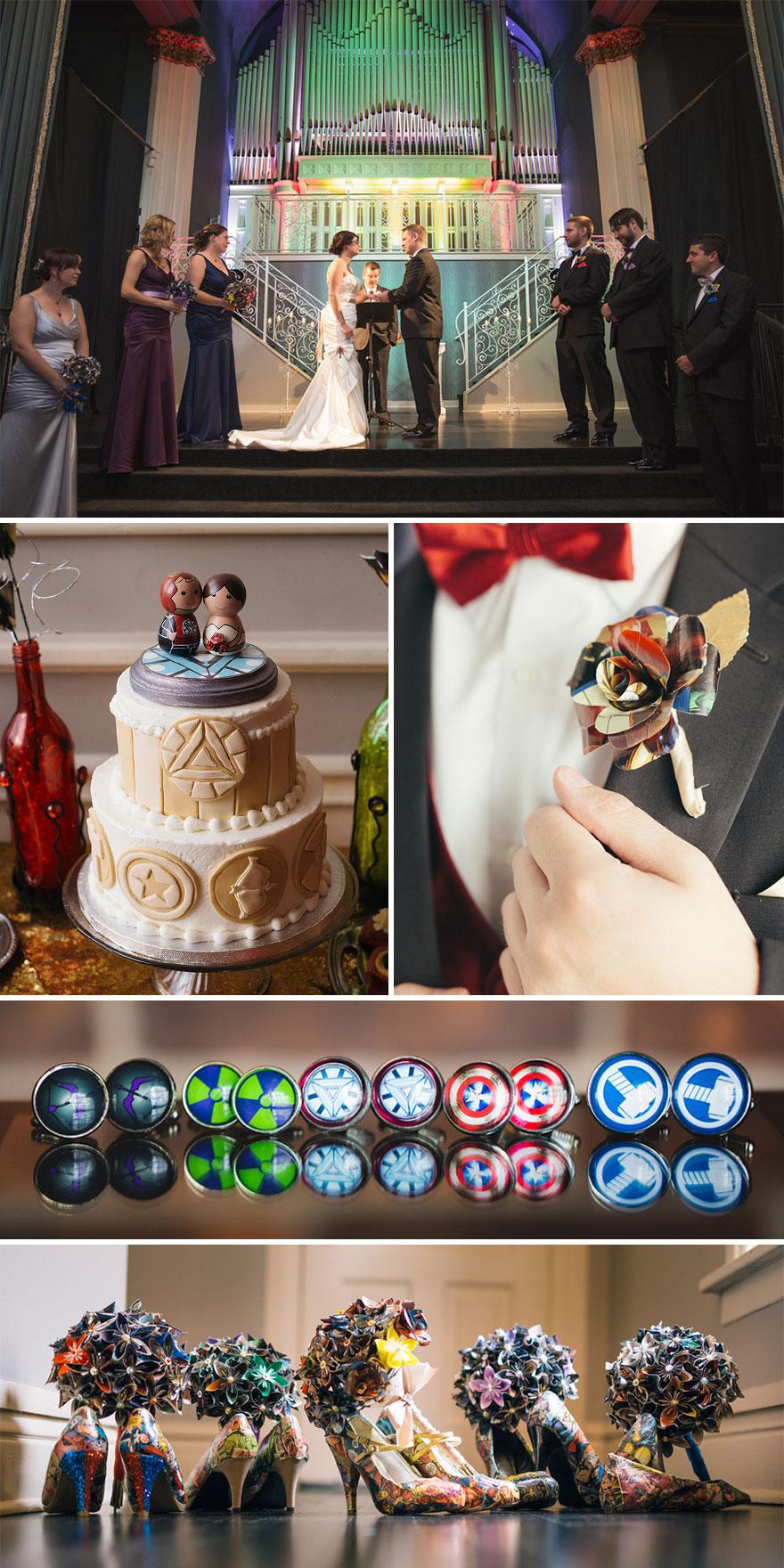 Avenger Themed Wedding