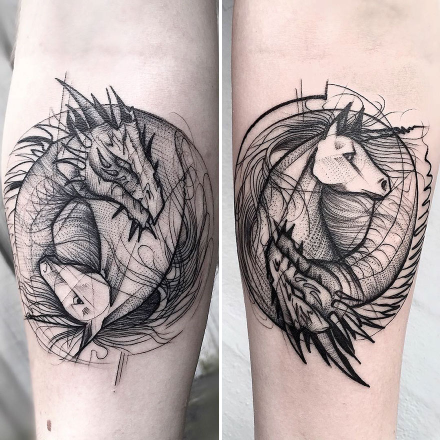 Tato Art Styles: Sketch Tattoos By Frank Carrilho Show The Beauty Of