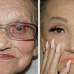 80-Year-Old Grandma Asks Her Granddaughter For A Makeup, Becomes Internet Sensation
