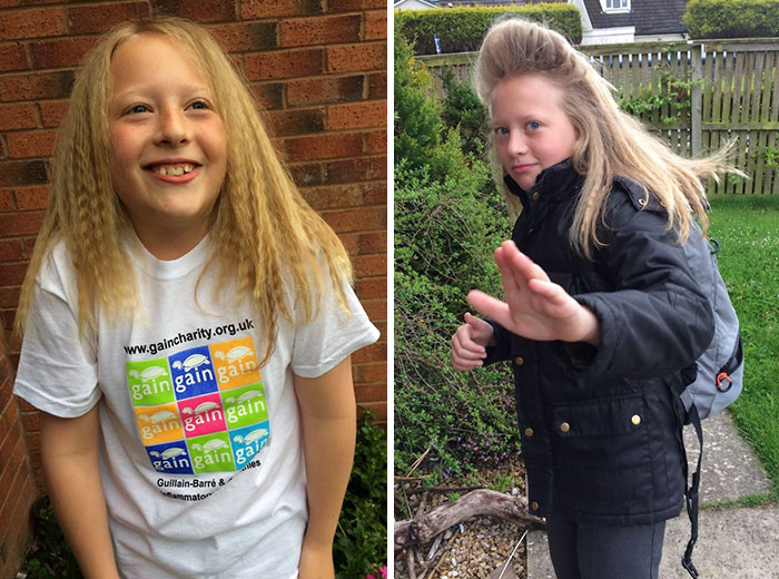 10 Year Old Boy Grows His Hair To Donate It To A Girl With Cancer