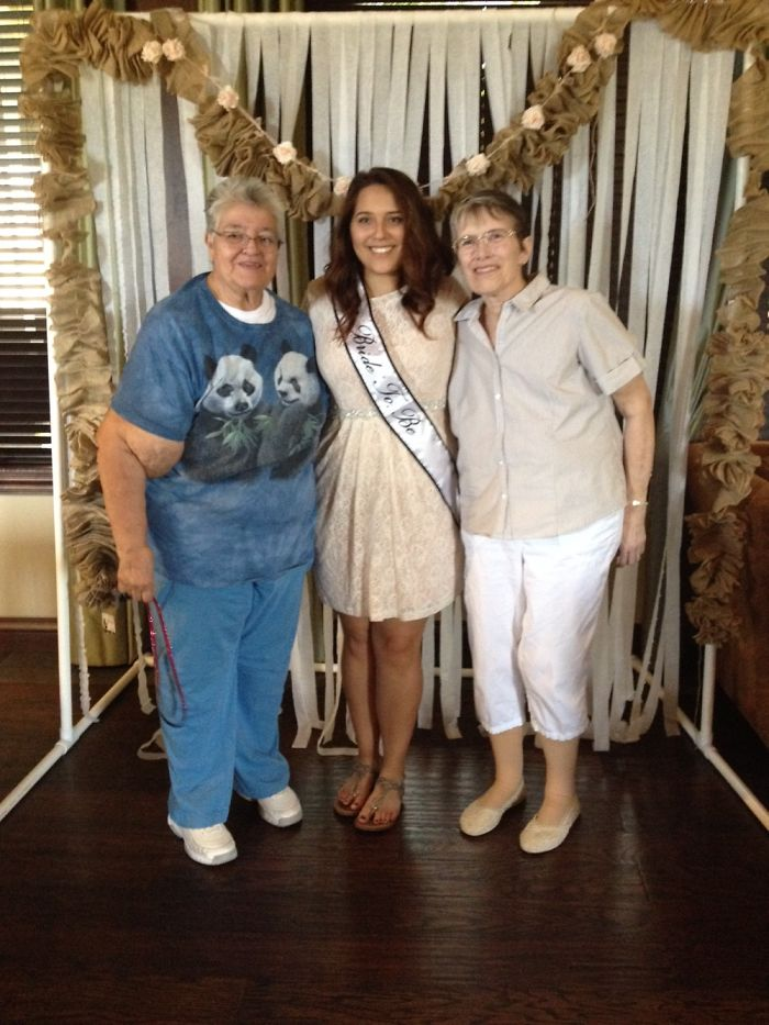 The Beautiful Young Lady Between Tricia And I Is Our Grand-daughter Alana . This Picture Was T