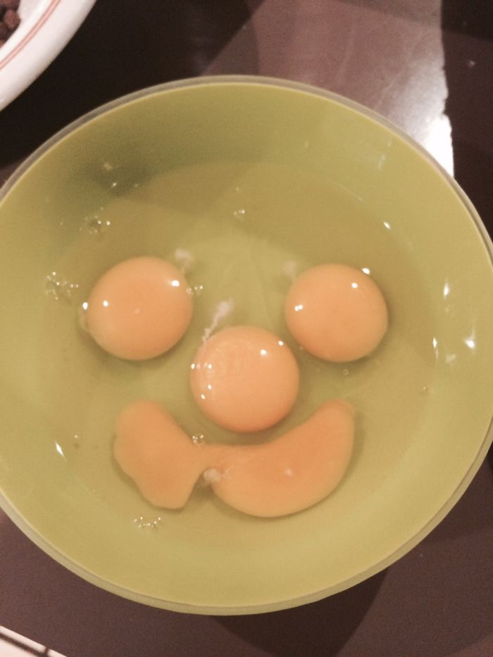Smiling Eggs Before Being Scrambled!