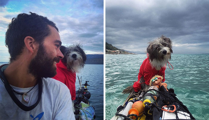 I Quit My Job To Kayak The Mediterranean Sea And Took A Dog (3 Years & 5000km So Far)