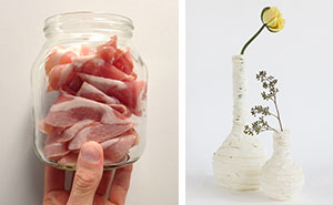 Lamps and Vases Made From Discarded Meat That I Found In Supermarkets