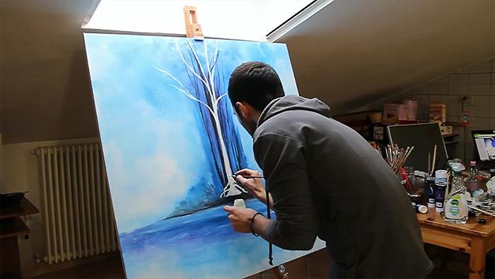 Oil Painting Interior Light Glow