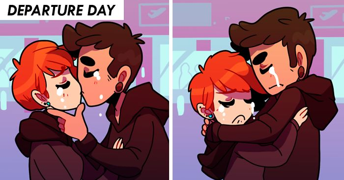 long distance relationship cartoon tumblr food