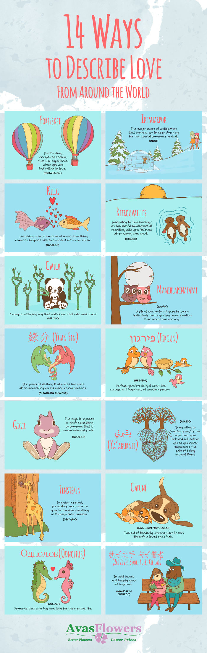 14 Ways To Describe Love From Around The World