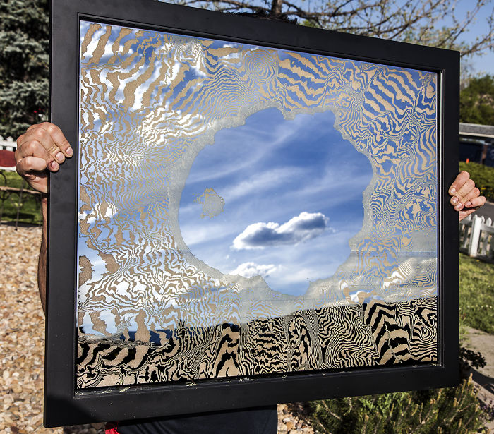 I Etched A Mirror With The Topography Of Crater Lake
