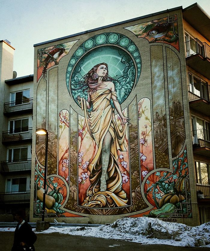 Public Murals By A'shop Crew On The Streets Of Montreal