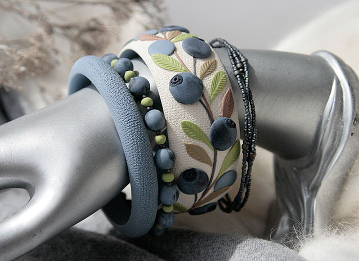 Nature-Inspired Jewelry That I Sculpt Out Of Polymer Clay