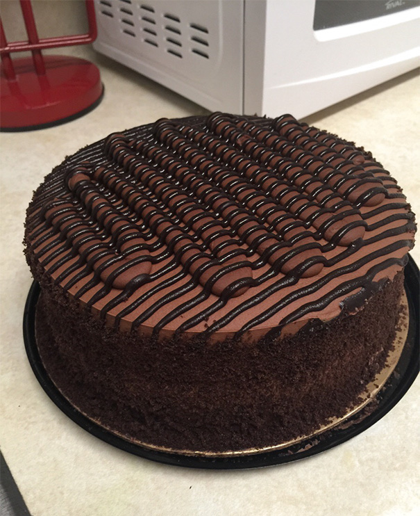 The Chocolate On This Cake Is Beautiful
