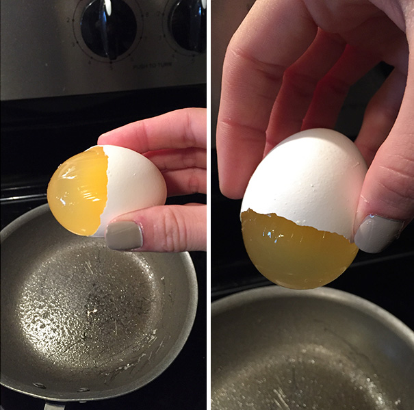 I Cracked This Egg But The Yolk Sac Remained Intact