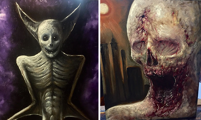 Dark Art Oil Paintings That I've Recently Created
