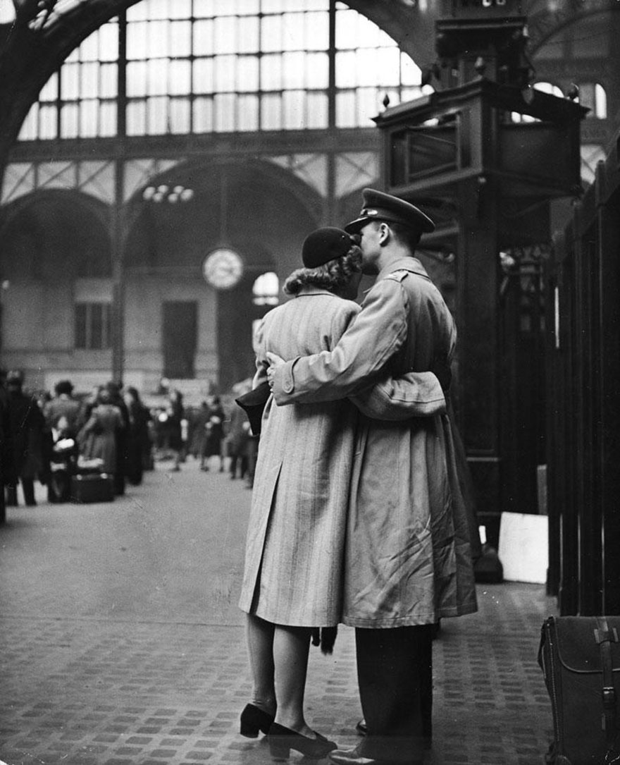 Saying Farewell To Departing Troops At New York's Penn Station, April 1943