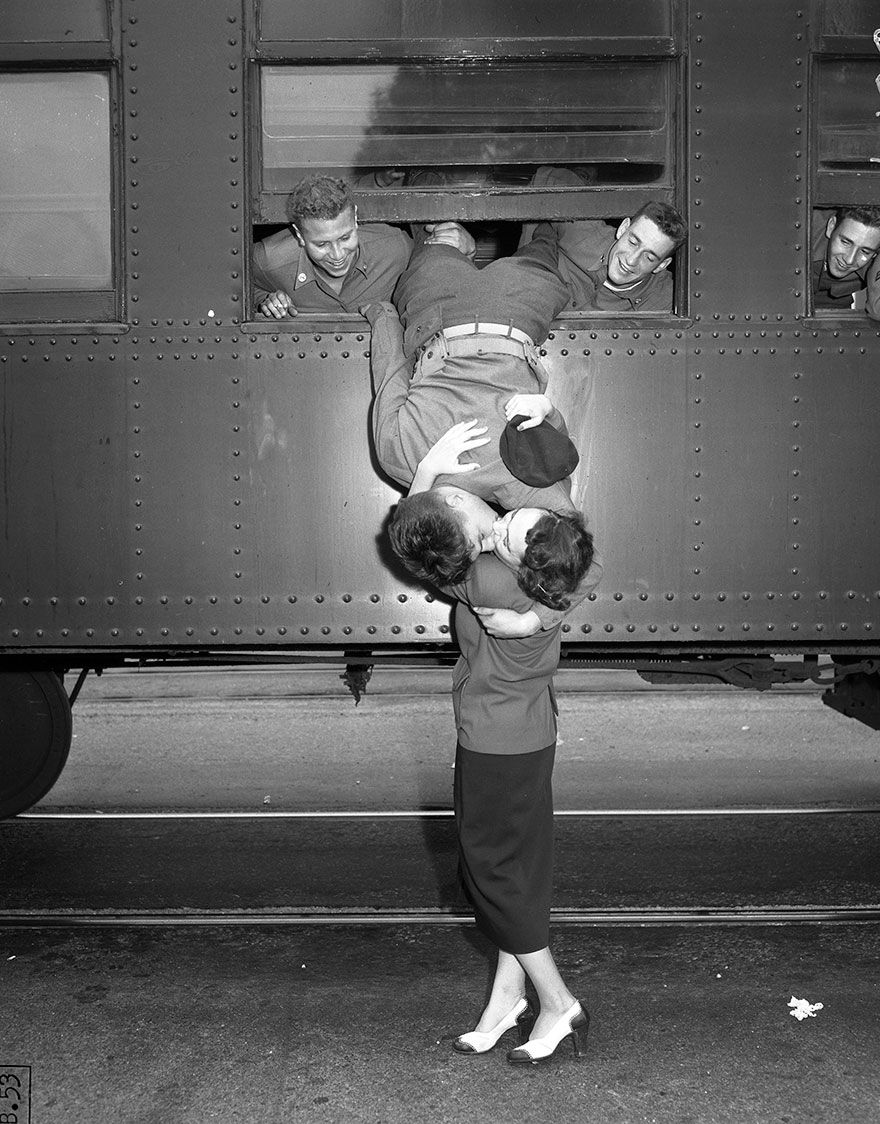 Korean War Goodbye Kiss, Los Angeles, Sept. 6, 1950