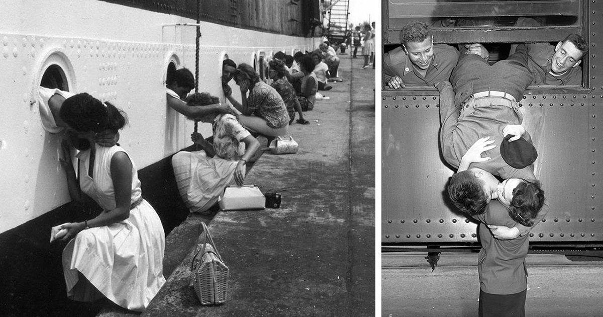 20 historic photos of love during wartime bored panda