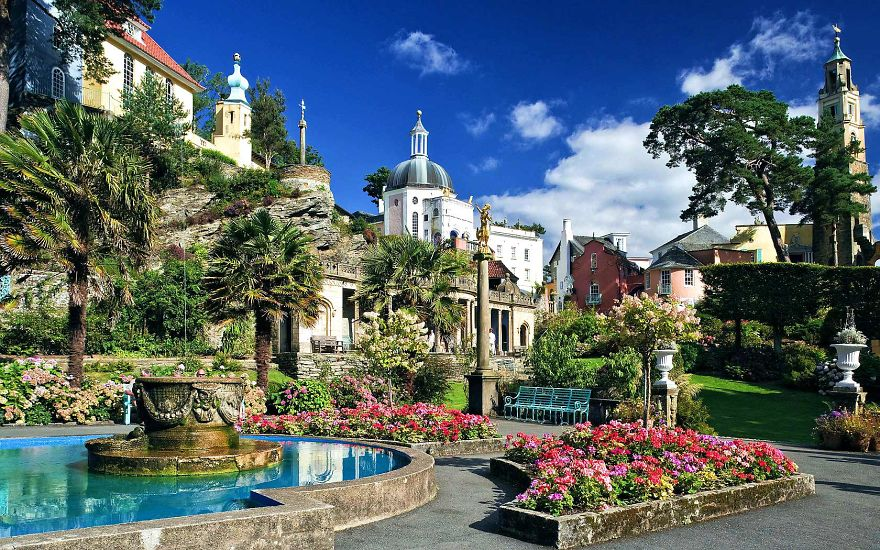 Portmerion , North Wales One Of The Most Beautiful And Quirky Town, Worth Seeing!