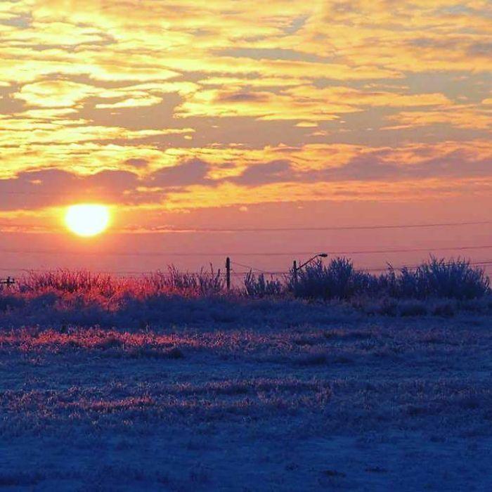 Sunset Over The Alberta Prairies