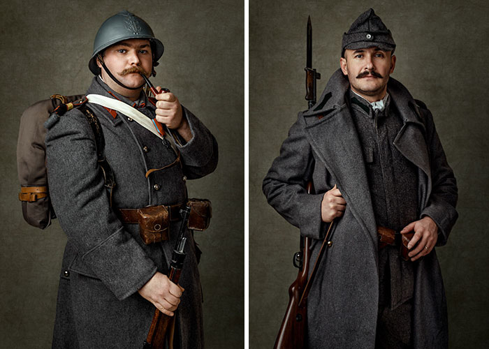 My Portraits Of Romanian Military Reenactment Group Members In Military Uniforms