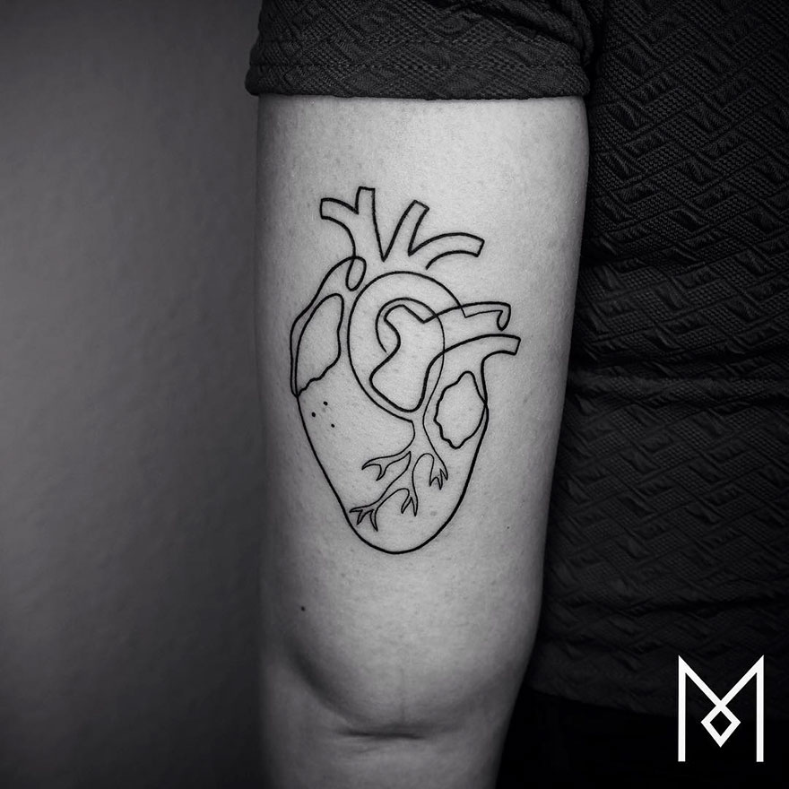 Minimalist Single Line Tattoos By Iranian German Artist 59