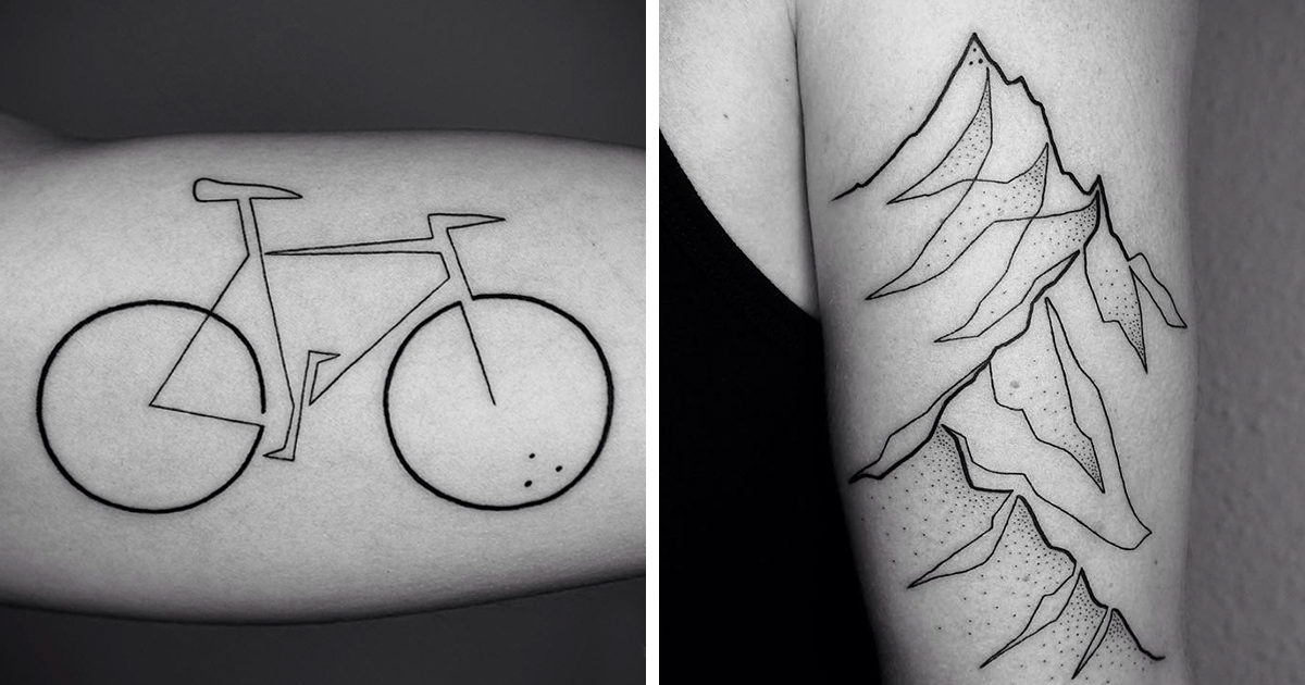 Contour Line Drawing Of A Person : Minimalist single line tattoos by iranian german artist pics