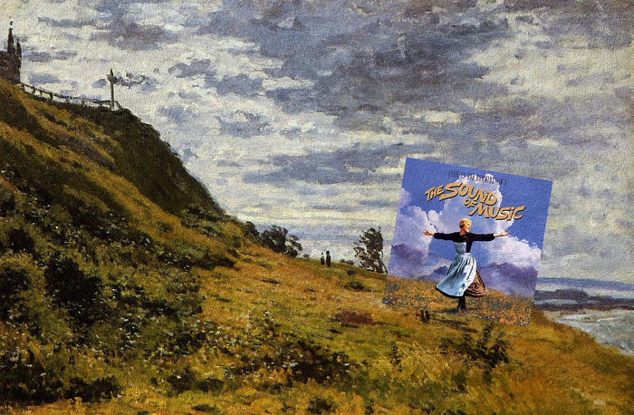 I Combine Movie Soundtrack Album Covers With Classical Paintings