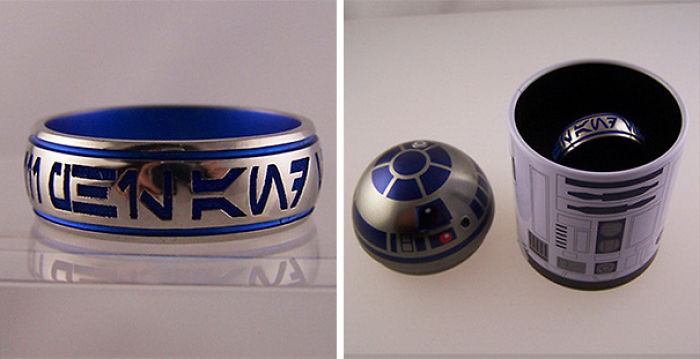 Star Wars Ring In R2-D2 Ring Box
