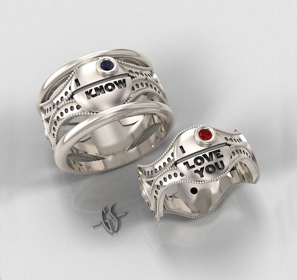 Star Wars Silver Ring Set