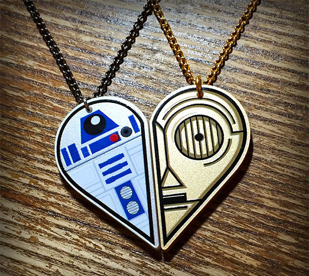 R2-D2 And C-3PO Best Friends Necklace Set