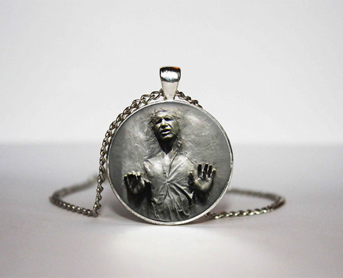 Han Solo Frozen In Carbonite Necklace
