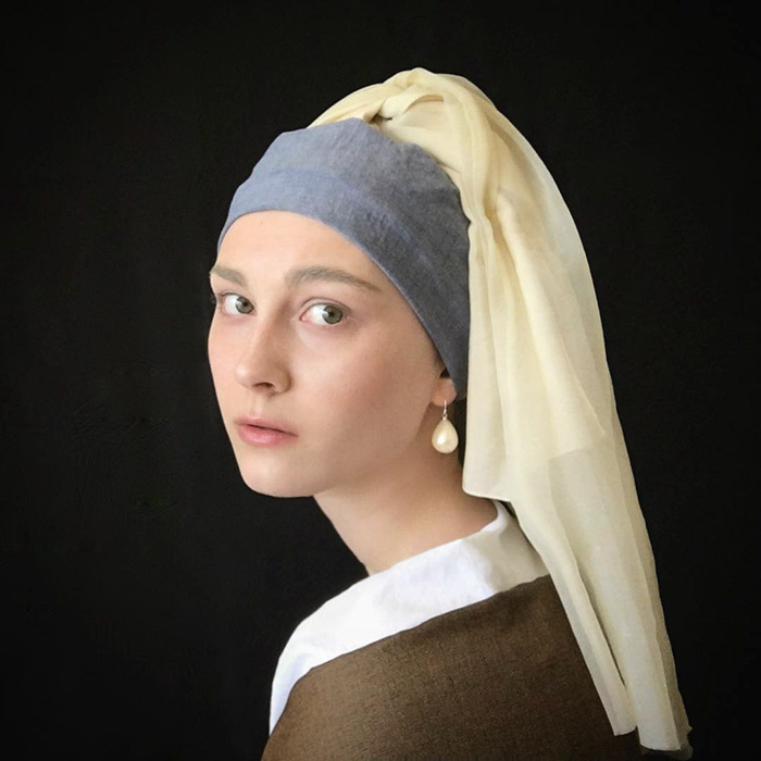 Girl With A Pearl Earring Recreation