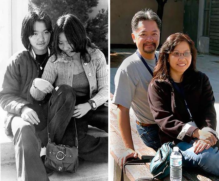 Image of: Www 32 Then And Now Fitness 365 67 Couples Recreating Their Old Photos Prove That True Love Is