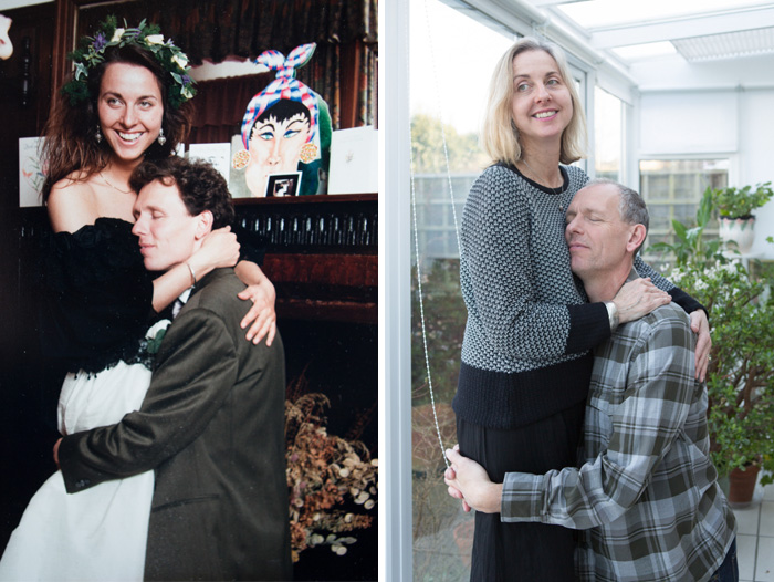 We Tried To Recreate Our Wedding Photo Here. 1991 And 2015