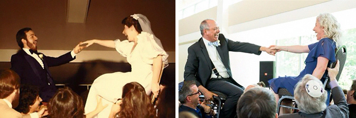 My Parents At Their Wedding In 1982 And At My Sister's Wedding
