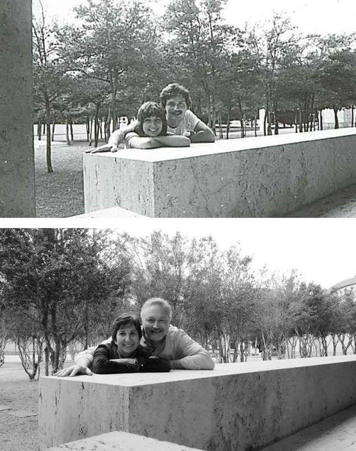 My Parents Recreate Picture 32 Years Later. Still In Love