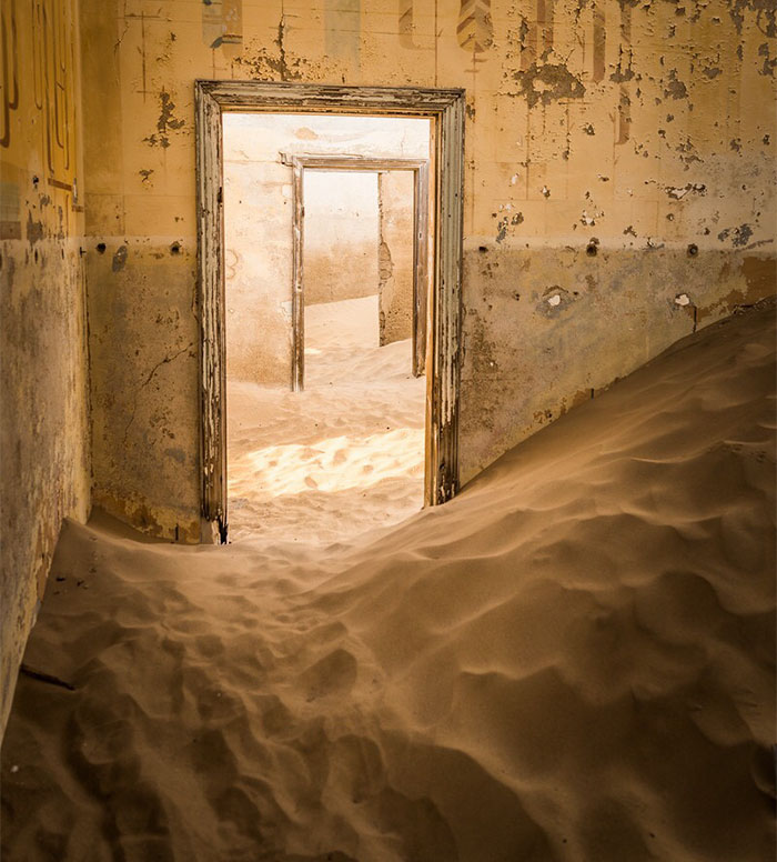 The Abandoned Town Of Kolmanskop, Where Sand Is Reclaiming The Land