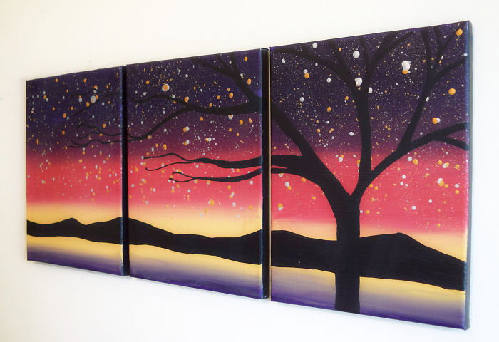 New Triptych Painting Wall Canvas Art