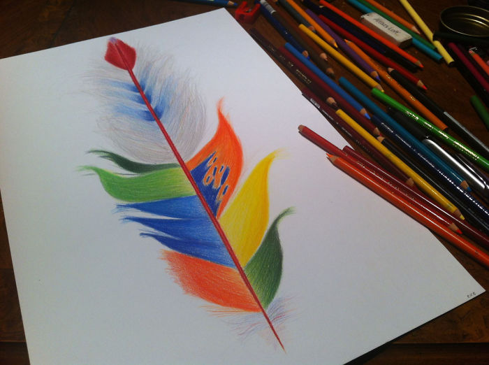 I Create Drawings Of Feathers
