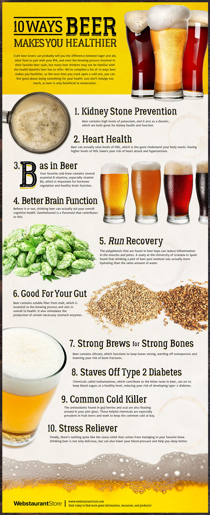 10 Ways Beer Makes You Healthier [infographic]